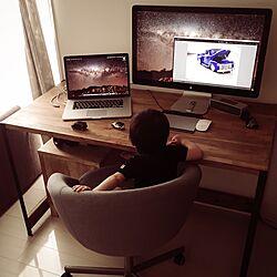 机/Macのある部屋/L字アングル/DIY/MacBook Pro...などのインテリア実例 - 2016-09-21 23:48:28