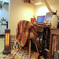 BURUNOの電気ストーブ/賃貸アパート/ワンルーム/一人暮らし/リビングのインテリア実例 - 2021-01-12 13:13:46