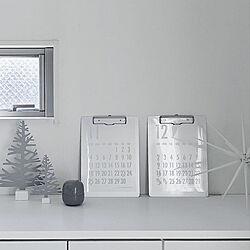 棚/KAHLER/クリスマス/ホワイトインテリア/クリスマスツリー...などのインテリア実例 - 2018-11-07 16:55:21