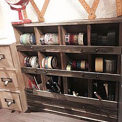 木箱/セリア/ハンドメイド/DIY/文房具収納...などのインテリア実例 - 2016-04-30 22:33:34