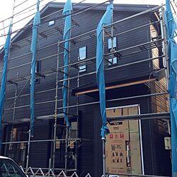 玄関/入り口/二世帯住宅新築中/ちょっとずつ変化/ついに始動/ちょい傾斜地...などのインテリア実例 - 2014-10-13 01:52:06