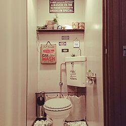 バス/トイレ/トイレ/雑貨/壁紙シート/100均...などのインテリア実例 - 2016-03-03 20:55:14