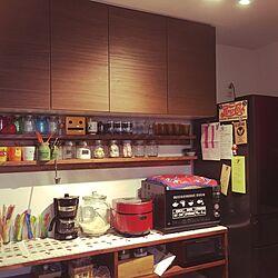 キッチン/シャープヘルシオ炊飯器/デロンギコーヒーメーカーのインテリア実例 - 2015-11-27 00:49:23
