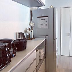 脚立/セリア/冷蔵庫横/100均アイテム/キッチンのインテリア実例 - 2019-09-25 14:42:53