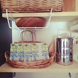 キッチン/マリメッコ/DIY(手作り棚)/北欧風デザイン目指して/ダイソーのインテリア実例 - 2015-09-19 13:31:22