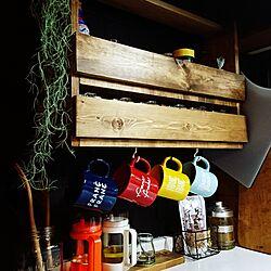 キッチン/DIY/スパイスラック/ワトコオイル/男前...などのインテリア実例 - 2017-01-07 17:36:38