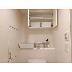 バス/トイレ/白い/狭い部屋/7畳/ニトリ...などのインテリア実例 - 2017-07-05 22:32:33