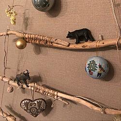 クリスマス/流木ツリー/リビング/流木/男前もナチュラルも好き...などのインテリア実例 - 2020-11-29 22:19:03