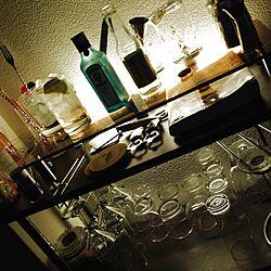 棚/照明/一人暮らし/酒/カクテル...などのインテリア実例 - 2014-01-13 19:46:18