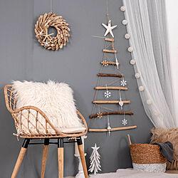 クリスマスツリー/クリスマスリース/ツリー/リース/ラタンチェア...などのインテリア実例 - 2019-11-21 14:07:29