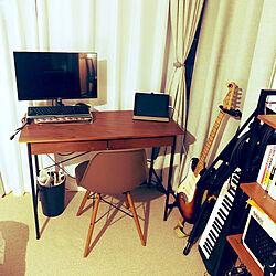 リモートワーク/楽器のある部屋/無印良品/机のインテリア実例 - 2020-05-28 21:24:11