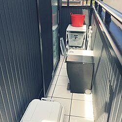 玄関/入り口/ゴミステーション/勝手口/モノトーン/ゴミ袋...などのインテリア実例 - 2016-04-11 19:24:41