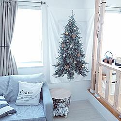 壁/天井/クリスマス/ツリータペストリー/クリスマスツリー/クリスマスディスプレイ...などのインテリア実例 - 2019-11-30 15:24:22