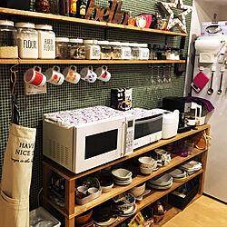 キッチン/ブラウン/男前/カフェ風/ワトコオイル...などのインテリア実例 - 2017-11-03 22:15:22