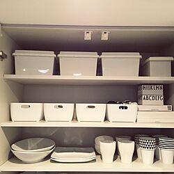 キッチン/食器棚/DESIGNLETTERS/ダイソー/IKEA...などのインテリア実例 - 2015-01-22 12:20:29