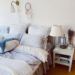 サメのぬいぐるみ/IKEA/ニトリ/寝室/ベッド...などのインテリア実例 - 2020-06-17 11:45:09