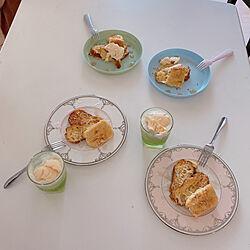 お家カフェ/クリームソーダ/フレンチトースト/お皿/JILLSTUART...などのインテリア実例 - 2020-06-08 21:10:02