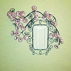 壁/天井/今は桜/ワイヤークラフト/桜のインテリア実例 - 2018-02-10 19:56:29