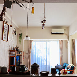 部屋全体/インテリア/dryflower/seria/暮らしを楽しむ...などのインテリア実例 - 2019-01-17 08:08:06