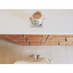 キッチン/立ち飲み/朝コーヒー/タイルの床/相変わらずマイペースです...などのインテリア実例 - 2016-04-25 08:54:45