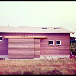 玄関/入り口/DIY塗装/グレーの外壁/ベージュの屋根/新居完成...などのインテリア実例 - 2015-08-17 21:13:33