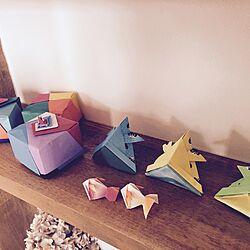 机/折り紙/たくさんのいいねありがとうございます♡/手作り/子供の作品のインテリア実例 - 2015-04-05 10:26:28