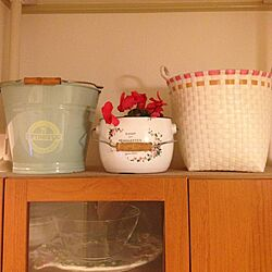 キッチン/食器棚の上/ホーローバケツ/かごのインテリア実例 - 2013-08-05 21:58:27