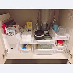 100均/掃除用具収納/調味料収納/食器収納/ファイルボックス...などのインテリア実例 - 2019-03-27 01:09:08
