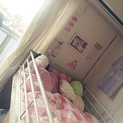 ベッド周り/ピンクと白/100均/ダイソー/雑貨のインテリア実例 - 2016-09-25 12:20:51