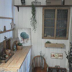 玄関/入り口/DIY棚/板壁DIY/窓の扉/下駄箱リメイク...などのインテリア実例 - 2014-05-21 11:37:56