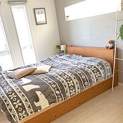 ベッド周り/冬支度♡/ポスターのある部屋/グレーインテリア/グレーの壁...などのインテリア実例 - 2018-12-19 11:41:33
