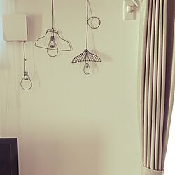 壁/天井/ブラック/ビニール被膜針金/電球/はまりそう...などのインテリア実例 - 2016-07-11 06:32:32