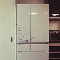 キッチン/ウォールステッカー セリア/冷蔵庫/英字デザインが好きのインテリア実例 - 2015-03-28 10:46:03