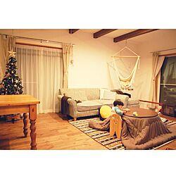 部屋全体/こたつ/円形こたつ/IKEA/しまドルトン...などのインテリア実例 - 2015-12-11 21:21:08
