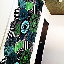 ベッド周り/ウォークインクローゼット/マリメッコで作ってみました♪( ´▽`)/ロールスクリーン/マリメッコのインテリア実例 - 2014-03-03 14:12:37