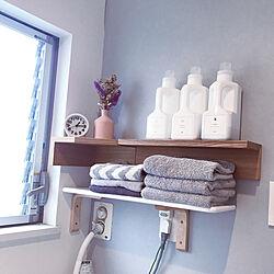 洗剤ボトル/タオル収納/洗面所 棚/洗面所DIY/洗面所...などのインテリア実例 - 2021-03-06 13:30:23