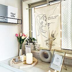 玄関/入り口/韓国/フラワーベース/花瓶/タペストリー...などのインテリア実例 - 2021-03-27 20:05:54