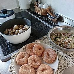 キッチン/夜ご飯/ハンバーグ/アイリスオーヤマフライパンセットのインテリア実例 - 2020-05-29 17:53:10