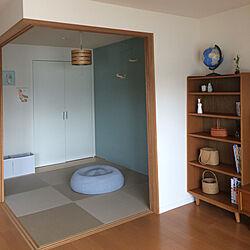 棚/かご収納/おもちゃ収納/IKEA/壁紙...などのインテリア実例 - 2017-07-26 12:48:38