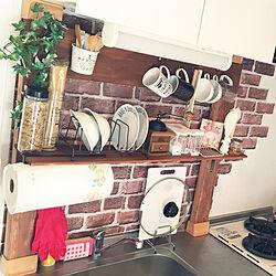 キッチン/100均/DIY/カフェ風/セリア...などのインテリア実例 - 2020-03-27 19:16:04