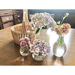 庭の花/紫陽花/フラワーベース/ダイニングテーブル/庭...などのインテリア実例 - 2020-07-05 11:00:56