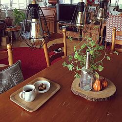 机/家族で暮らす/我が家のテーマカラーは、RED♬/観葉植物/ナチュラル...などのインテリア実例 - 2017-08-27 08:43:19