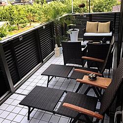 部屋全体/ソーラーライト/LIXILビューステージ/LIXILのベランダ/ガーデンテーブル...などのインテリア実例 - 2017-08-06 19:11:32