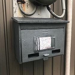 玄関/入り口/お粗末ですけどね…/名前は差し替えできます❗️/塗り替え/ポストのインテリア実例 - 2018-10-20 08:23:41