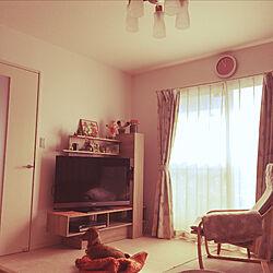 照明器具/IKEA/カーテン/テレビボード/愛犬...などのインテリア実例 - 2020-11-15 11:05:04