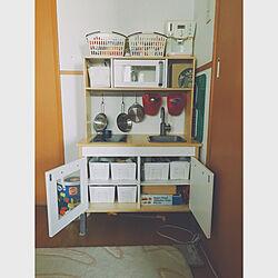 自分でお片付け/IKEA/サラリーマン整理収納アドバイザー/おかたづけ/ままごとキッチン...などのインテリア実例 - 2017-11-19 16:39:34