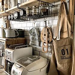 キッチン/デロンギコーヒーメーカー/エプロン/DIY女子/暮らしを楽しむ...などのインテリア実例 - 2018-10-10 20:45:39