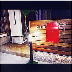 壁/天井/赤いポスト/お気に入り♡/玄関タイル/ステンシルシール...などのインテリア実例 - 2017-10-16 18:23:20