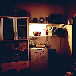 キッチン/スポットライト/小さなおうち/ごちゃごちゃ/ダボレール...などのインテリア実例 - 2016-10-19 20:15:54