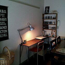 リビング/ブログやってます。/DIY棚。/鉄脚+古材ラボ/鉄脚の長机...などのインテリア実例 - 2014-07-02 05:56:18